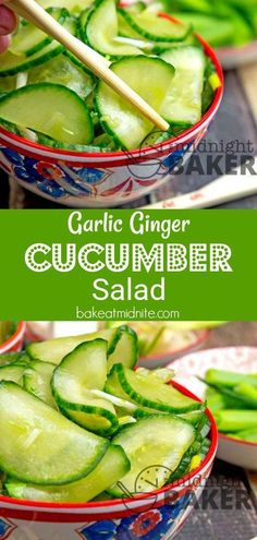 Not your usual cucumber salad! This one has an Asian flair. #cucumber #salad #sidedish #easyrecipe
