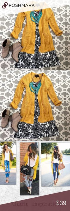 Stitch Fix Yellow Mustard Cardigan Stitch Fix Yellow Mustard Cardigan. Absolutely creative world/ stitch fix yellow cardigan long sweater.  Perfect for to complete a cute winter outfit or a chilly summer night! ❤️ fits a M or L. In excellent condition, pet & smoke free home. stitch Fix Sweaters Cardigans