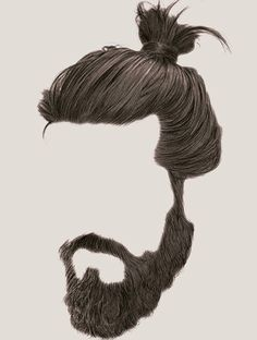 Now this! love for #beard is phenomenal! All you do is cherish the cherish the moment of togetherness! #Beard #manbun