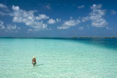 Beautiful shades of blue at Conrad Maldives