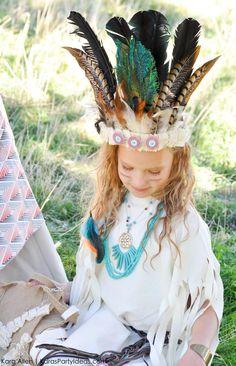 No Sew DIY Sacagawea indian halloween costume by Kara Allen | Kara's Party Ideas | KarasPartyIdeas.com for Michaels #MichaelsMakers #KaraAllen #KarasPartyIdeas-11