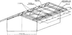 Roof Truss Guide - Design and construction of standard timber and steel trusses (BASIN - SKAT, 1999, 187 p.): 6 STEEL TRUSSES: 6.2 System Options Steel Trusses, Roof Trusses, Roof Truss Design, Steel Detail, Roof Structure, Buddha Art, Outdoor Projects, Basin, House Plans