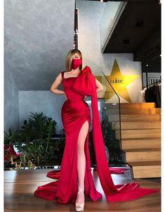 Evening Dresses, Prom Dresses, Wedding Dresses, Dinner Dresses, Couture Dresses, Fashion Dresses, Red Silk Dress, Prom Outfits, Mode Chic