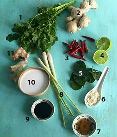 thai ingreients needed to make easy Thai recipes, on the food channel of allaboutyou