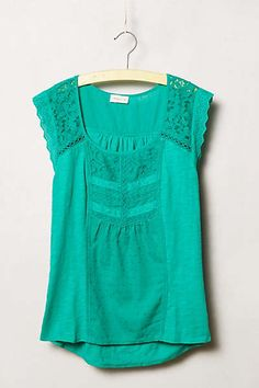 Anthropologie - Lace Lined Tee