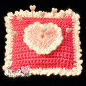 Ravelry: Sweet Pillow Pincushion pattern by The Hooked Haberdasher... Free pattern!..or you could make a sachet with this pattern!
