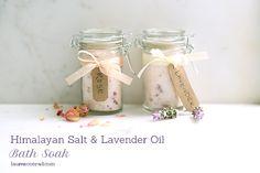 DIY Gift Guide: Himalayan Salt and Lavender Oil Bath Soak