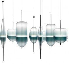 Wonderglass - Collection Flow(T) designer Nao Tamura luminaire ultra contemporain inspiré par les couleurs de la lagune de Venise