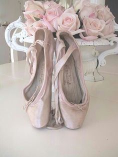Ballet Pointe Shoes and Roses