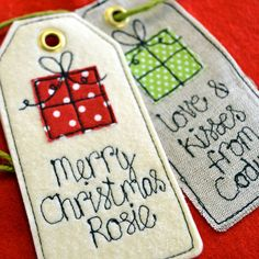 personalised birthday/christmas gift tag by sew very english   notonthehighstreet.com