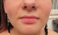 Lip and Nose Piercing