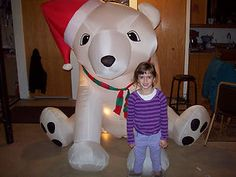 POLAR BEAR CHRISTMAS AIRBLOWN INFLATABLE