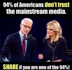 94%  WORST   BIAS SELL OUT JOURNALISTS IN THE HISTORY OF AMERICA.  MONEY AND POWER HAVE  CORRUPT THEIR INTELLIGENCE