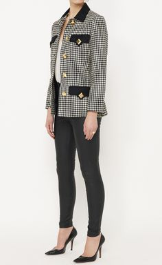Genny Black, White And Gold Jacket | VAUNTE