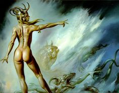 Lilith - art by Boris Vallejo #Mythology, #Demon I love Lilith. She is one of my personal goddesses.