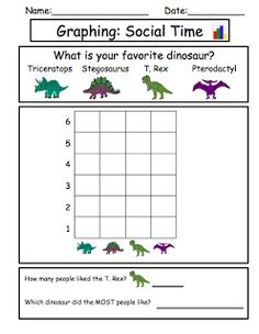 Dinosaur Unit: Favorite dinosaur graphing and socializing activity!