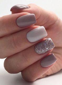 Square Nail Designs, Cute Nail Designs, Short Nail Designs, Acrylic Nails Designs Short, Simple Nail Art Designs, Glitter Nail Designs, Summer Nail Designs, Accent Nail Designs, Elegant Nail Designs
