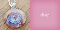 glasea floral iridescent pendant