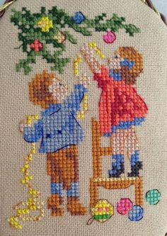 Cross Stitch Christmas Ornaments, Christmas Embroidery, Christmas Cross, Cross Stitch Designs, Cross Stitch Patterns, Cross Stitching, Cross Stitch Embroidery, Crochet Wall Hangings, Needlepoint Patterns