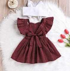 Toddler Polka Toddler Polka Dot Dress, Baby Girls Polka Dot Printed Ruffled Sleeveless Top Frock Dress Summer Sundress