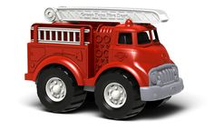 Green Toys™ Fire Truck. Sturdy roof ladder pivots vertically and rotates 360 degrees. Two removable side ladders. No BPA, PVC, or phthalates. Made in USA.