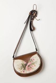 #FlowerShop Handpainted Floral Crossbody Bag