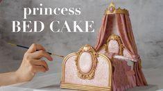 Creative Cake Decorating, Cake Decorating Tutorials, Creative Cakes, Bed Cake, Carriage Cake, How To Make Bed, Fondant Cakes, Birthday Cake, Princess