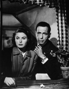 Ingrid Bergman and Humphrey Bogart, Casablanca - Paris