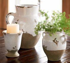 Tuscan Urns & Cachepot with Martha Stewart Terra cotta