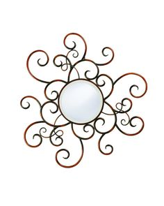 Wrought iron decorative mirror, just an unusual piece I like