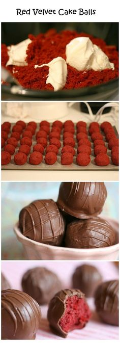 Red Velvet Cake Balls...I had some from a bakery a fews days ago and they were amazing!