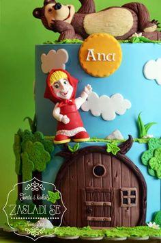 Masha and the Bear cake Masha Cake, 3rd Birthday, Birthday Cakes, Masha And The Bear, Bear Party, Bear Cakes, Cake Art, Amazing Cakes, Cake Toppers