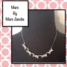 Marc by Marc Jacobs bow necklace NWOT gorgeous silver tone bow necklace amazing for day or evening! Measures approx 16 inches Marc by Marc Jacobs Jewelry Necklaces