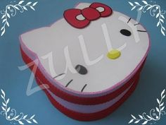 CAJA DE HELLO KITTY EN FOMI (PAP) - YouTube