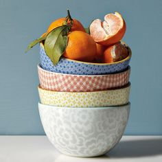 gorgeous bowls from West Elm, love the patterns and shape.