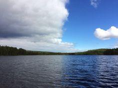 Suomen kesäsään molemmat puolet Finland, Landscapes, Clouds, River, Photography, Outdoor, Paisajes, Outdoors, Scenery