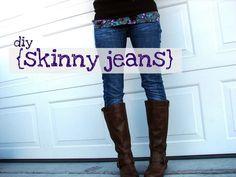 diy skinny jeans... - A girl and a glue gun