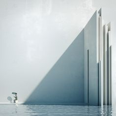 "Was ist Metaphysik? — Minimalissimo - This series of works performed by Michele Durazzi, is a series of artwork called ""Was ist Metaphysik?"". These conceptual illustrations explore different forms of architecture in a single colour: white."