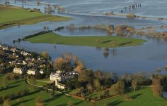 In pics: Aerial images show the devastation caused by floods across the north of England with particularly disastrous consequences in York and Leeds Aerial Images, Northern England, North Yorkshire, Image Shows, Picture Show, River, Street, Banks, Indiana