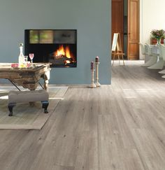 QuickStep Impressive Ultra Saw Cut Oak Grey Laminate Flooring, 12 mm, QuickStep Laminates - Wood Flooring Centre Quick Step Parquet, Quick Step Flooring, Grey Laminate Flooring, Hardwood Floors, Plywood Floors, Parquet Flooring, Plywood Furniture, Furniture Design, Quickstep Laminate