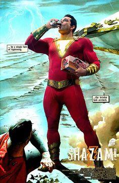 Posts about superman written by Nick Paramonte Original Captain Marvel, Captain Marvel Shazam, Marvel Dc, Marvel Comics, Dc Movies, Comic Movies, Comic Books, Zachary Levi, Superman