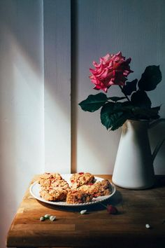 Strawberry Oat Scones (Whole Grain and Refined-Sugar Free) from Hummingbird on High
