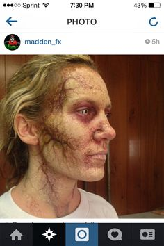 "This is fantastic ""infected"" makeup!"