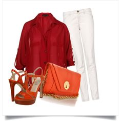 A summer outfit to show off the maroon and orange.