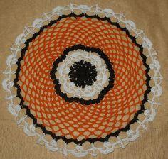 (4) Name: 'Crocheting : Halloween Skulls Crochet Doily