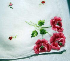 Vintage  White Linen Hanky/Handkerchief  by PendragonFarm on Etsy, $4.00