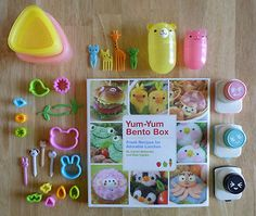 cute bento lunch supplies starter kit + cookbook