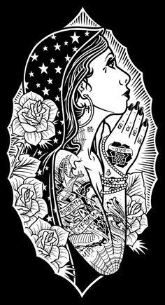 Resultado de imagen para dibujos de mujeres tatuadas