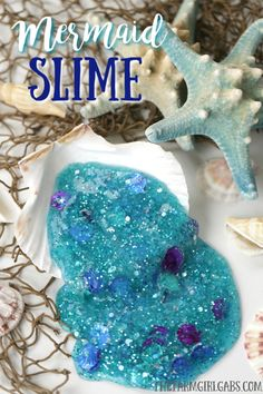 Make Your Own Little Mermaid Slime I bet Ariel (The Little Mermaid) will love to add this Mermaid Slime to her collection. This fun Disney craft will keep the kids busy for hours. Disney Diy, Disney Crafts, Disney Travel, Little Mermaid Crafts, Ariel The Little Mermaid, Mermaid Disney, Diy Crafts For Kids, Easy Crafts, Family Crafts