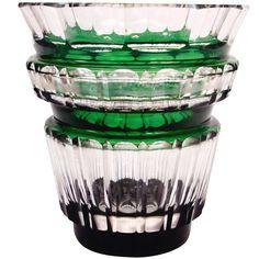 1stdibs | Signed Val St. Lambert Green Crystal Vase